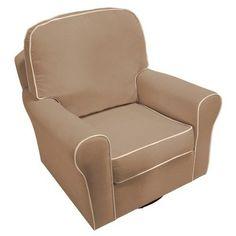 Swivel Glider Chair - Beige.Opens in a new window