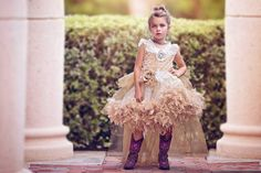 Dramatic and dreamy, this Dramatic Boutique Flower Girl Dress from Love Baby J is a timeless style for any special event. The lavish bodice is made of luxurious soft and cozy minky fur fabric and is a