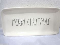 Magenta By Rae Dunn Halloween MERRY CHRISTMAS Serving Plate Tray Platter in Pottery & Glass, Pottery & China, China & Dinnerware, Other China & Dinnerware | eBay