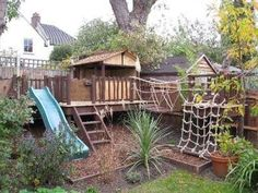 30+ Stunning Outdoor Playground Areas Ideas For Child | You need not have the biggest backyard in the neighbourhood to create the best outdoor play area for your kids and their friends. Children aren't fasc... Outdoor Play Spaces, Kids Outdoor Play, Kids Play Area, Backyard For Kids, Backyard Projects, Children Play, Backyard Play Areas, Backyard Ideas, Childrens Play Area Garden
