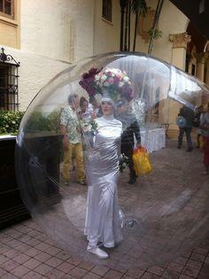 AD Inspiration. Bridal drama in a bubble!