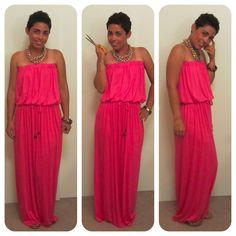 Tube Top drawstring Maxi Dress tutorial.