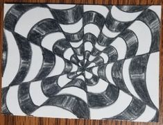 How to Draw an Op Art Bullseye - Art by Ro Drawing Practice, Line Drawing, Illusion Drawings, Victor Vasarely, White Highlights, Vanishing Point, Color Pencil Art, Gcse Art, Artist Trading Cards