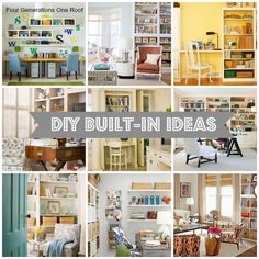 10 DIY built in ideas {decorating inspiration} via Jessica @ www.fourgeneratio...