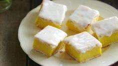 Lemon and vanilla custard squares   OverSixty