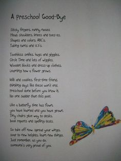 Pre-K End of Year Poem