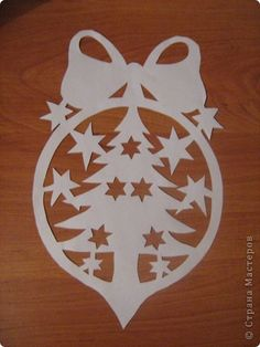 ♔ CHRISTMAS TREE BOW STARS ORNAMENT SVG SILHOUETTE #CRICUT, #CRICUTEXPLORE