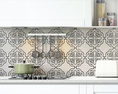 Tile Sticker for Kitchen, bath, floor, wall Waterproof & Removable Peel n Stick: Gray Wallpaper Backsplash Kitchen, Bathroom Splashback, Wall Waterproofing, Big Jar, Beige Kitchen, Washable Paint, Glass Furniture, Decorate Your Room, Ceramic Decor