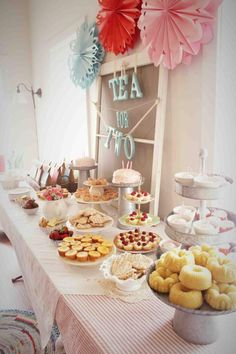 A Little Girls Tea Party Table 2nd Birthday Parties 2 Year Old