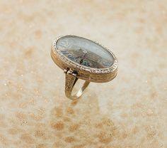 1920s Watch Ring - 18k White Gold Watch Ring. $2.250,00, via Etsy.
