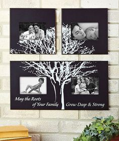 3-Pc. Family Tree Photo Frame|The Lakeside Collection  -a great idea for a senior congratulatory ad in a yearbook