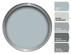 "Love the Color ""Rain"" SW.I guess my favorite Blue. Love the Color ""Rain"" SW.I guess my favorite Blue. Living Room Paint and Decor Interior Paint Colors, Paint Colors For Home, House Colors, Indoor Paint Colors, Office Paint Colors, Furniture Paint Colors, Shed Paint Colours, Behr Exterior Paint Colors, Cabin Paint Colors"