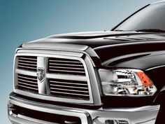 10-16 Dodge RAM Truck 2500 3500 HD Front Air Deflector Triple Chrome Plated Hood Guard Bug Deflector. For product info go to:  https://www.caraccessoriesonlinemarket.com/10-16-dodge-ram-truck-2500-3500-hd-front-air-deflector-triple-chrome-plated-hood-guard-bug-deflector/