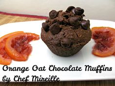 Orange Oat Chocolate Muffins #MuffinMonday