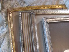 Lot of 4  Vintage Metal  Picture Frames 8 by 10 by THISPLUSTHAT, $15.99