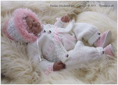 1 of 4: DK Knitting Pattern 24 TO KNIT Baby or Reborn Dolls Cardigan Hat Trousers