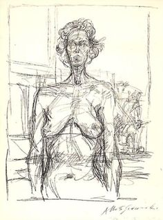 Nude with Flowers - Alberto Giacometti