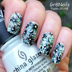 Pueen Encore Stamping nail art SE04B by Gr8Nails