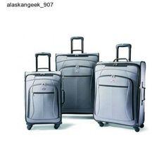 Luggage Set Gray Travel Spinner Suitcase Carry Plane Cruise 3pc American Tourist #AmericanTourister #LuggageSetGrayTravelSpinnerSuitcase