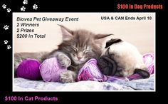 Biovea Pet Giveaway Event US/Can 4/10