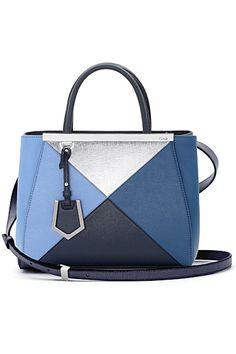 Handbag Fendi patchwork blu e turchese New Handbags, Purses And Handbags, Design Bleu, Bags 2014, Balenciaga Handbags, Fab Bag, Sweet Bags, Fendi Bags, Wholesale Handbags