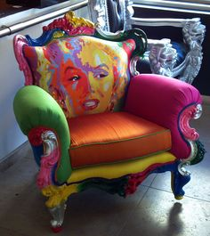 Herman Miller Aeron Chair Size C Funky Painted Furniture, Unusual Furniture, Painted Chairs, Classic Furniture, Paint Furniture, Furniture Makeover, Cool Furniture, Furniture Design, Painted Dressers