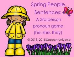 Speech Universe: Spring and Summer People Sentences. Pinned by SOS Inc. Resources. Follow all our boards at pinterest.com/sostherapy/ for therapy resources.