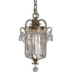 Gianna Gilded Silver Crystal Chandelier