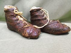 Vintage baby shoes ..very worn