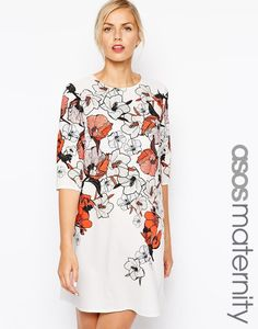 Asos Maternity Shift Dress in Floral Print, $85 | 23 Impossibly Cute Zooey Deschanel-Worthy Maternity Dresses
