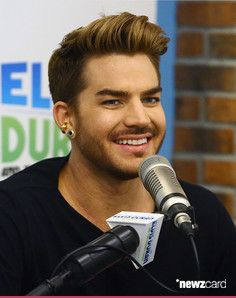 (EXCLUSIVE COVERAGE) Singer Adam Lambert visits 'The Elvis Duran Z100 Morning Show' at Z100 Studio on May 20, 2015 in New York City.  (Photo by Astrid Stawiarz/Getty Images)
