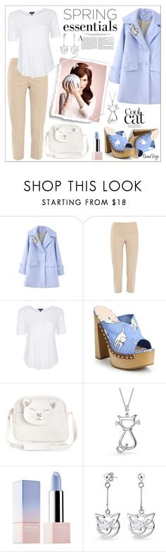 """""""Cool Cat"""" by queenvirgo ❤ liked on Polyvore featuring Piazza Sempione, Topshop, Miu Miu, Monsoon, Bling Jewelry and Sephora Collection"""