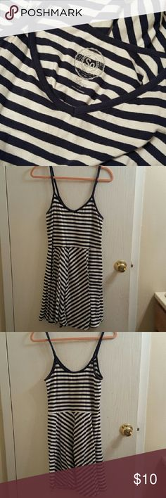 SO Blue & White Striped Skater Dress Size L Cute SO Blue & White Striped Skater Dress Size L (large).  Bundle and save! Ask me about custom bundles! SO Dresses Mini