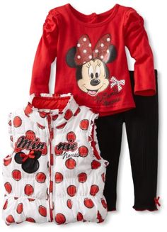 Amazon.com: Disney Baby-girls Infant Three Piece Minnie Mouse Vest Set: Clothing