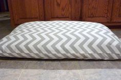 Gray Chevron Dog Bed Cover  Personalized  by JulieButlerCreations, $30.00