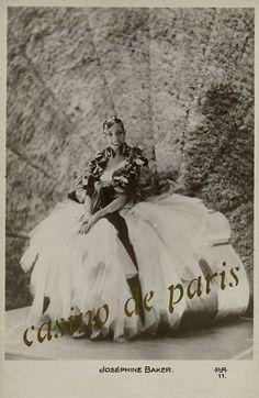 Josephine Baker Casino de Paris postcard