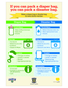 If you can pack a diaper bag, you can create an #emergencykit! Courtesy of Anaheim CERT and Anaheim Fire Dept.