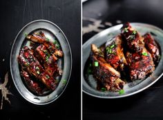 CARAMEL SOY SAUCE STICKY RIBS recipe from Lady and Pups . Sound amazing!-