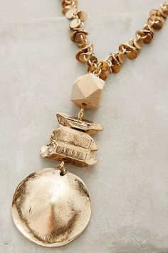Chunky jewellery with an authentic twist and unusual charm.