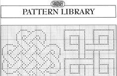 Motivos Célticos em Gráficos de Ponto Cruz Celtic Cross Stitch, Cross Stitch Embroidery, Embroidery Patterns, Crochet Crafts, Diy Crafts, Pattern Library, Wallpaper Backgrounds, Sewing, Knitting