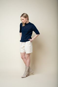 Silk Top, Dark Blue, Normcore, Wool, Pearls, Style, Products, Fashion, Swag