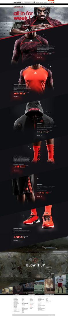 adidas Week 1 Experience on Behance by Ryan Mendes | #webdesign #it #web #design #layout #userinterface #website #webdesign < repinned by www.BlickeDeeler.de | Take a look at www.WebsiteDesign-Hamburg.de