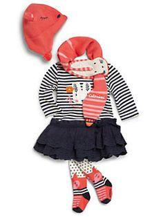Catimini - Baby's Ruffled-Skirt Striped Dress