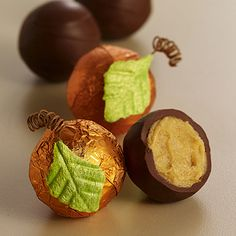 Godiva pumpkin patch truffles filled with creamy pumpkin spice ganache...YUM