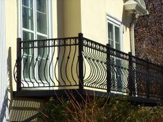 Custom Bow Picket Balcony