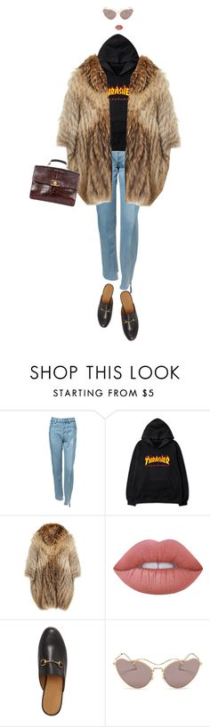 """urban outfitter"" by alevogue ❤ liked on Polyvore featuring Vetements, RIZAL, Lime Crime, Gucci, Miu Miu and Chanel"