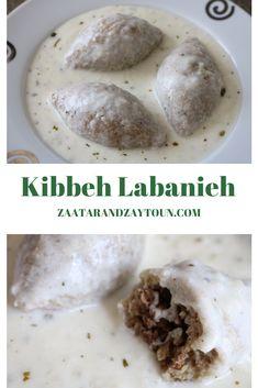 Kibbeh Labanieh by Zaatar and Zaytoun - Lebanese Recipes Armenian Recipes, Lebanese Recipes, Arabic Recipes, Kebab Recipes, Flatbread Recipes, Rice Recipes, Dinner Recipes, Dessert Recipes, Lebanese Cuisine