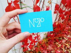 The colorful Swedish autumn has arrived together with our new business cards! #nojddesign #businesscarddesign