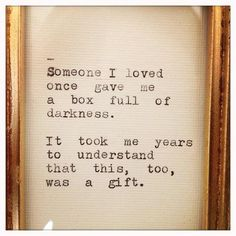 Lessons Learned in Life | A gift