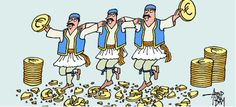"""Stereotype that Greeks have fun while we """"earn"""" money from the European Union."""